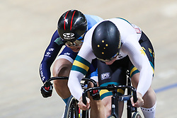 March 1, 2019 - Pruszkow, Poland - Stephanie Morton of Australia and Lee Wai Sze of Hong Kong compete in the Women's sprint Gold Medal Final on day three of the UCI Track Cycling World Championships held in the BGZ BNP Paribas Velodrome Arena on March 01, 2019 in Pruszkow, Poland. (Credit Image: © Foto Olimpik/NurPhoto via ZUMA Press)