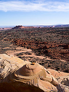High angle view of the North Coyote Buttes area of Vermilion Cliffs National Monument, Arizona.
