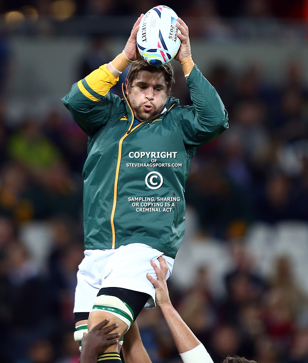 LONDON, ENGLAND - OCTOBER 30: Willem Alberts  of South Africa during the Rugby World Cup 3rd Place Playoff match between South Africa and Argentina at Olympic Stadium on October 30, 2015 in London, England. (Photo by Steve Haag/Gallo Images)