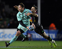 Rugby Union - 2019 / 2020 Gallagher Premiership - Harlequins vs. Gloucester<br /> <br /> Gloucester's Danny Cipriani is tackled by Harlequins' Danny Care, at The Stoop.<br /> <br /> COLORSPORT/ASHLEY WESTERN