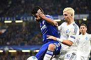 Diego Costa and Aleksandar Dragovic battle for the ball during the Champions League group stage match between Chelsea and Dynamo Kiev at Stamford Bridge, London, England on 4 November 2015. Photo by Michael Hulf.