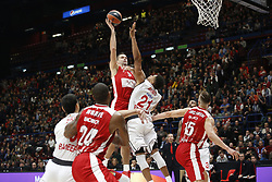 November 17, 2017 - Milan, Milan, Italy - Mantas Kalnietis (#9 AX Armani Exchange Milan) shoots a layup during a game of Turkish Airlines EuroLeague basketball between  AX Armani Exchange Milan vs Brose Bamberg at Mediolanum Forum, on November 17, 2017 in Milan, Italy. (Credit Image: © Roberto Finizio/NurPhoto via ZUMA Press)