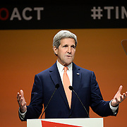 US Secretary of State John Kerry at the London Global Summit to End Sexual Violence in Conflict, 13 June 2014