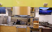 The new test kitchen in the Houston Food Bank's new Keegan Kitchen.
