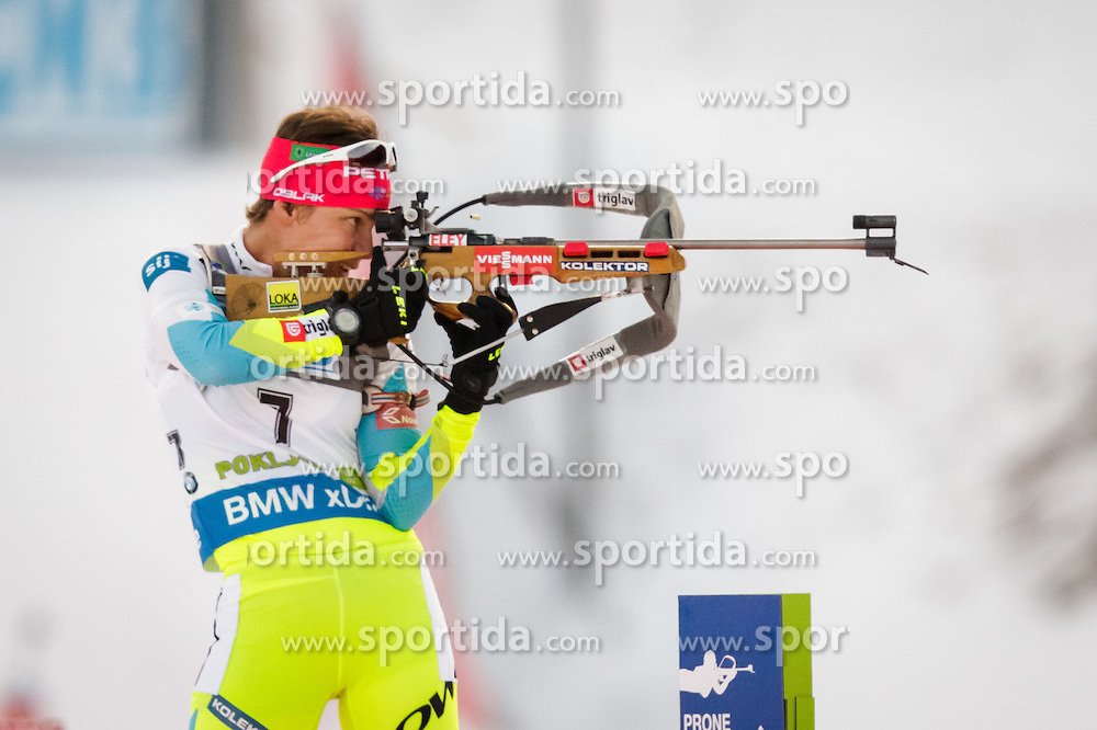 Teja Gregorin (SLO) during Women 7,5 km Sprint at day 2 of IBU Biathlon World Cup 2015/16 Pokljuka, on December 18, 2015 in Rudno polje, Pokljuka, Slovenia. Photo by Ziga Zupan / Sportida