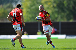 Lachlan McCaffrey (London Welsh) in possession - Photo mandatory by-line: Patrick Khachfe/JMP - Mobile: 07966 386802 06/09/2014 - SPORT - RUGBY UNION - Oxford - Kassam Stadium - London Welsh v Exeter Chiefs - Aviva Premiership