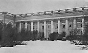 The imperial residence at Tsarskoye Selo, this wing being used as a prison for the deposed emperor and the imperial family after the Revolution of 1917, photograph by Daily Mirror, published in L'Illustration no.3870, 5th May 1917. Picture by Manuel Cohen
