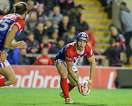 Paul Marcon (left), Theo Fages (centre) and  Hakim Miloudi of France during the International Friendly match at Leigh Sports Village, Leigh<br /> Picture by Steve McCormick/Focus Images Ltd 07545 862647<br /> 17/10/2018