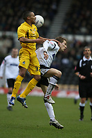 Photo: Pete Lorence.<br />Derby County v Bristol Rovers. The FA Cup. 27/01/2007.<br />Aaron Lescott and Seth Johnson battle for the ball.