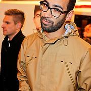 NLD/Amsterdam/20120123 - Premiere Black Out, de Jeugd van tegenwoordig, Rapper/zanger Bas Brons