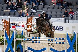 ROBERT Olivier (FRA), Eros<br /> Göteborg - Gothenburg Horse Show 2019 <br /> Longines FEI Jumping World Cup™ Final<br /> Training Session<br /> Warm Up Springen / Showjumping<br /> Longines FEI Jumping World Cup™ Final and FEI Dressage World Cup™ Final<br /> 03. April 2019<br /> © www.sportfotos-lafrentz.de/Stefan Lafrentz