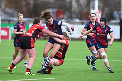Lucy Attwood of Bristol Bears Women passes the ball to Clara Nielson of Bristol Bears Women - Mandatory by-line: Paul Knight 12/2019 - RUGBY - Shaftesbury Park - Bristol, England - Bristol Bears Women v Gloucester-Hartpury Women - Tyrrells Premier 15s