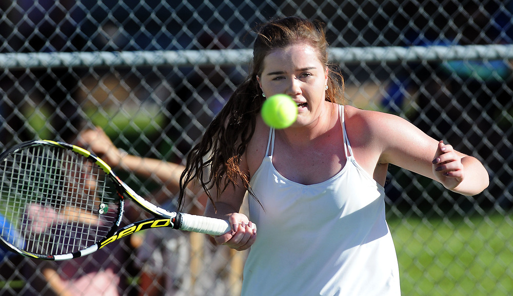 girls state tennis4/sports/jim thompson/ Girls 6A State Tennis championships.  Thursday May. 04, 2017. (Jim Thompson/Albuquerque Journal)