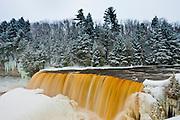 Upper Tahquamenon Falls in Winter.