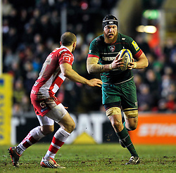 Sebastian de Chaves of Leicester Tigers - Photo mandatory by-line: Patrick Khachfe/JMP - Mobile: 07966 386802 13/02/2015 - SPORT - RUGBY UNION - Leicester - Welford Road - Leicester Tigers v Gloucester Rugby - Aviva Premiership