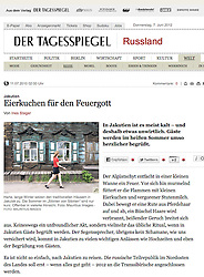 Der Tagesspiegel newspaper Germany; Old houses in Irkutsk Russia
