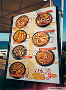 Menu for Paella Ibiza 2001