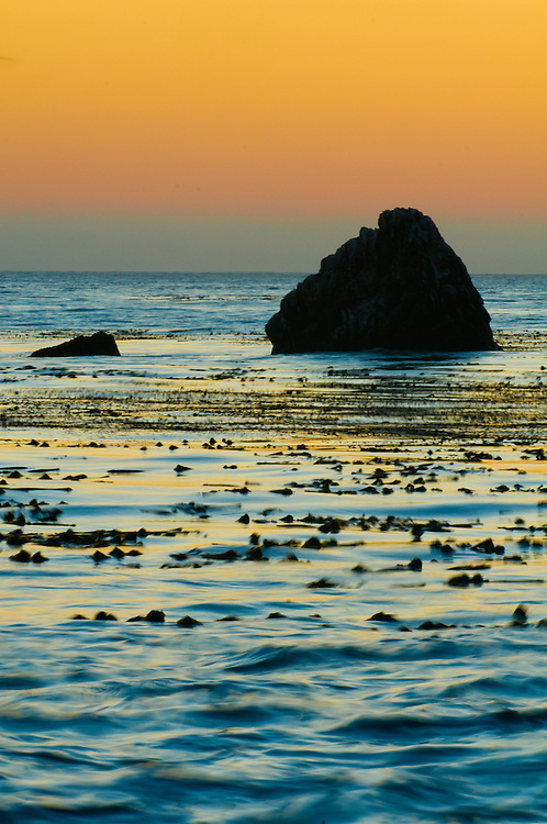 Sunset over the Pacfic ocean in Big Sur, California on Sept 25, 2008.