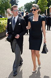 © licensed to London News Pictures. 14/06/2011. Ascot, UK.  Holly Valance and her boyfroend Nick Candy arrive on day one at Royal Ascot races today (14/03/2011). The 5 day showcase event,  one of the highlights of the racing calendar is in it's 300th year. Horse racing has been held at the famous Berkshire course since 1711 and tradition is a hallmark of the meeting. Top hats and tails remain compulsory in parts of the course. Photo credit should read: Ben Cawthra/LNP