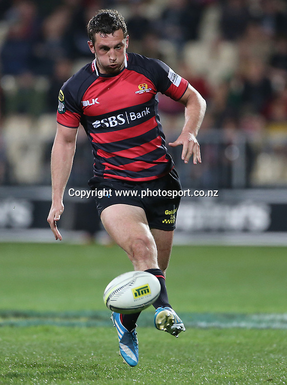 Canterbury first five eighth Tom Taylor<br /> ITM Cup match between Canterbury and Wellington, held at AMI Stadium, Christchurch, New Zealand, 12 September 2014. Credit: www.photosport.co.nz