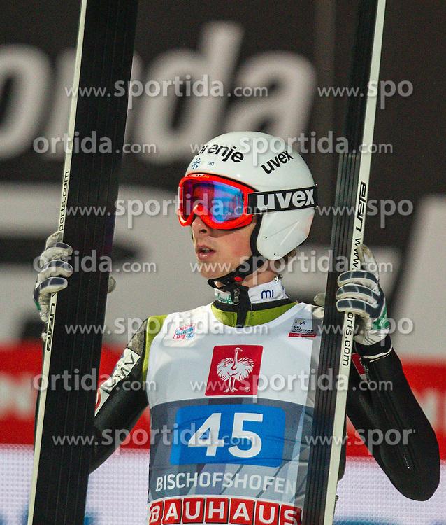 06.01.2013, Paul Ausserleitner Schanze, Bischofshofen, AUT, FIS Ski Sprung Weltcup, 61. Vierschanzentournee, Bewerb, im Bild Jaka Hvala (SLO) // Jaka Hvala of Slovenia during Competition of 61th Four Hills Tournament of FIS Ski Jumping World Cup at the Paul Ausserleitner Schanze, Bischofshofen, Austria on 2013/01/06. EXPA Pictures © 2012, PhotoCredit: EXPA/ Juergen Feichter