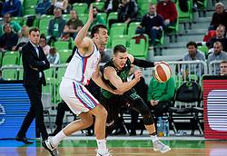 Gregor Hrovat of Petrol Olimpija during basketball match between KK Petrol Olimpija and KK Igokea in Round #1 of ABA League 2017/18, at Arena Stozice, Ljubljana, Slovenia on October 2, 2017. Photo by Vid Ponikvar / Sportida