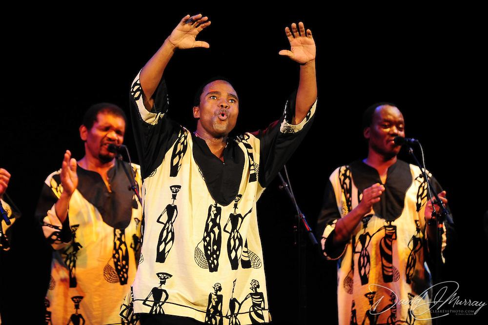 Ladysmith Black Mambazo member Thulani Shabalala performing at The Music Hall, Portsmouth, NH