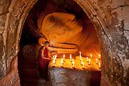 Reclining Buddha at Manuha Paya, Bagan, Myanmar
