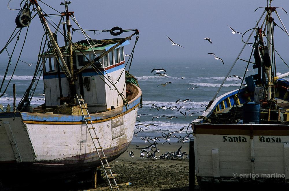 Chiclayo, Santa Rosa fishing harbour, home of more than 500 fishing boats.