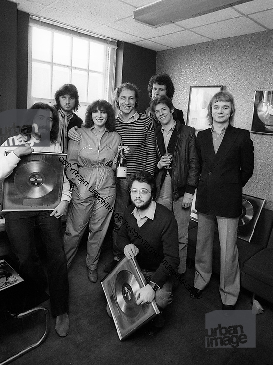 Dire Straits presented with Gold Discs at Phonograms London Office