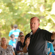 8/29/15 4:02:41 PM - Lewes, Del.<br />  --  Delaware Senator Chris Coons speaks at The Sussex County Democratic Party's annual Jamboree, this year&rsquo;s surprise visitor was non other than Vice President Joe Biden, who thanked everyone for their support at Cape Henlopen State Park, Aug. 29, 2015, Lewes, Del. -- (Photo by James Pernol, JPPortraitDesign)