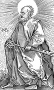 St Peter holding his symbol of a key. Woodcut by Hans Baldung (1470-1550).