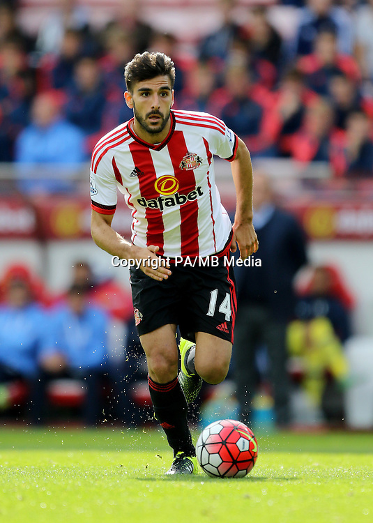 Sunderland's Jordi Gomez in action during the Barclays Premier League match at the Stadium of Light, Sunderland.