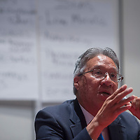 """Richard Kontz, Executive Director Gallup Housing Authority, participates in a panel discussion on """"The Challenges of Developing a Skilled Workforce in the Region,"""" during the 2016 Workforce Development Leadership Summit at University of New Mexico in Gallup Thursday."""