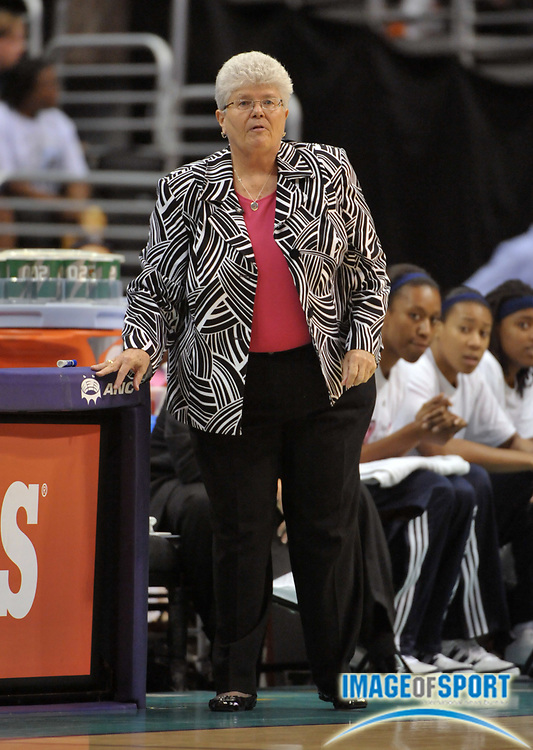 Aug 10, 2010; Los Angeles, CA, USA; Indiana Fever coach Lin Dunn during the game against the Los Angeles Sparks at the Staples Center. The Fever defeated the Sparks 82-76. Photo by Image of Sport