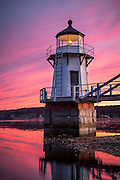 It was extremely peaceful standing in the water beneath this beautiful lighthouse, with a beautiful sunset, as a warm breeze blew off the water and seals passed by in the water beside me.