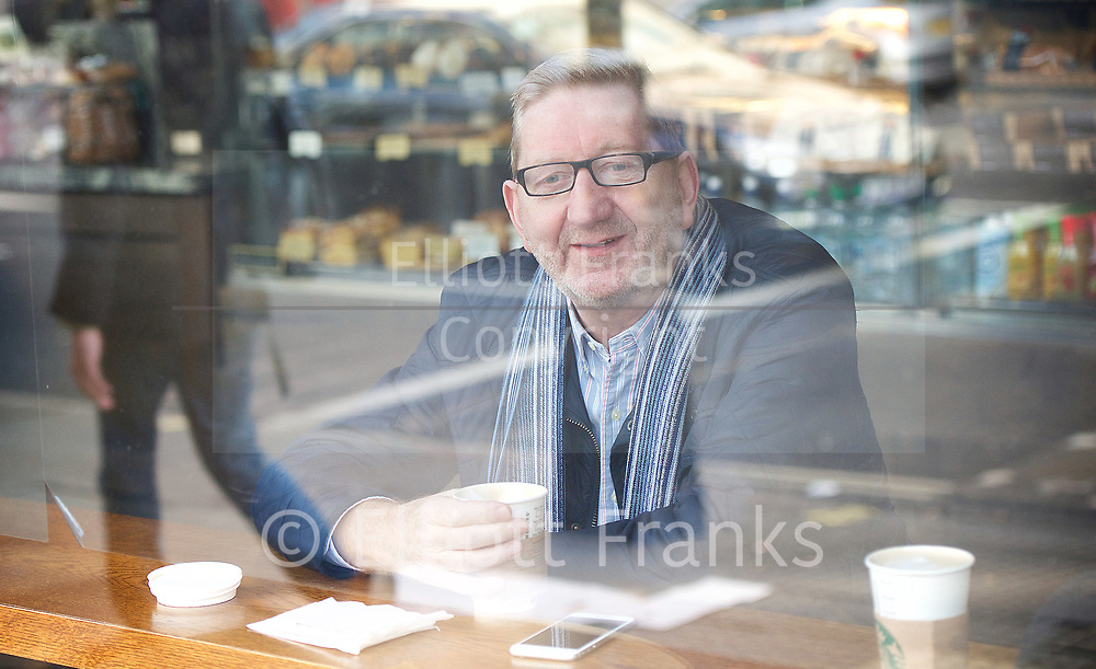 Len McCluskey <br /> BBC, Broadcasting House, London, Great Britain <br /> 26th March 2017 <br /> <br /> Len McCluskey <br /> General Secretary of Unite the Union <br /> in Starbucks near the BBC before arriving for the Sunday Politics show <br /> <br /> Photograph by Elliott Franks <br /> Image licensed to Elliott Franks Photography Services