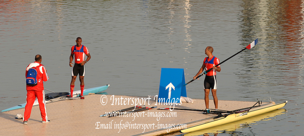2005 FISA World Cup, Dorney Lake, Eton, ENGLAND, 27.05.05. [Friday am racing] Cuban single boating. .Photo  Peter Spurrier. .email images@intersport-images...[Mandatory Credit Peter Spurrier/ Intersport Images] , Rowing Courses, Dorney Lake, Eton. ENGLAND