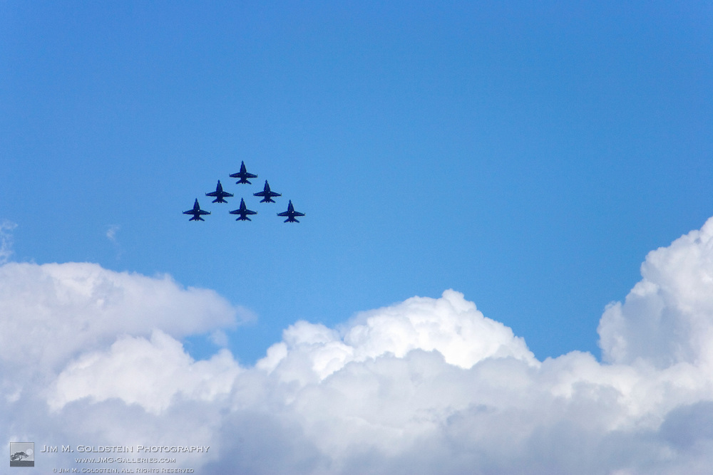 Blue Angels As Seen flying above storm clouds during the 2007 Fleet Week performance in San Francisco