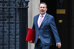 © Licensed to London News Pictures. 11/06/2019. London, UK. Secretary of State for International Trade Liam Fox leaves 10 Downing Street after the Cabinet meeting. Photo credit: Rob Pinney/LNP