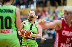 Annamaria Prezelj of Slovenia during friendly basketball match between Women National teams of Slovenia and Croatia before FIBA Eurobasket Women 2017 in Prague, on June 1, 2017 in Celje, Slovenia. Photo by Vid Ponikvar / Sportida