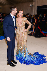 Ryan Reynolds and Blake Lively arriving at The Metropolitan Museum of Art Costume Institute Benefit celebrating the opening of Rei Kawakubo / Comme des Garcons : Art of the In-Between held at The Metropolitan Museum of Art  in New York, NY, on May 1, 2017. (Photo by Anthony Behar) *** Please Use Credit from Credit Field ***