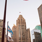 The historic Tribune Tower is a neo-Gothic structure located at 435 North Michigan Avenue, the heart of the Magnificent Mile. It is the home of the Chicago Tribune, Tribune Media, and tronc, Inc., formerly known as Tribune Publishing. WGN Radio (720 kHz) broadcasts from the building.The original Tribune Tower was built in 1868, but was destroyed in the Great Chicago Fire in 1871. Photography by Jose More