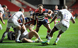 Tom Varndell of Bristol Rugby has his eyes on the white-wash - Mandatory by-line: Paul Knight/JMP - 13/01/2017 - RUGBY - Ashton Gate - Bristol, England - Bristol Rugby v Bath Rugby - European Challenge Cup