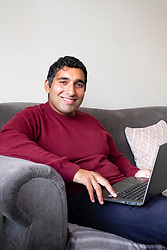 Baasit Siddiqui pictured at his home in Derby<br />