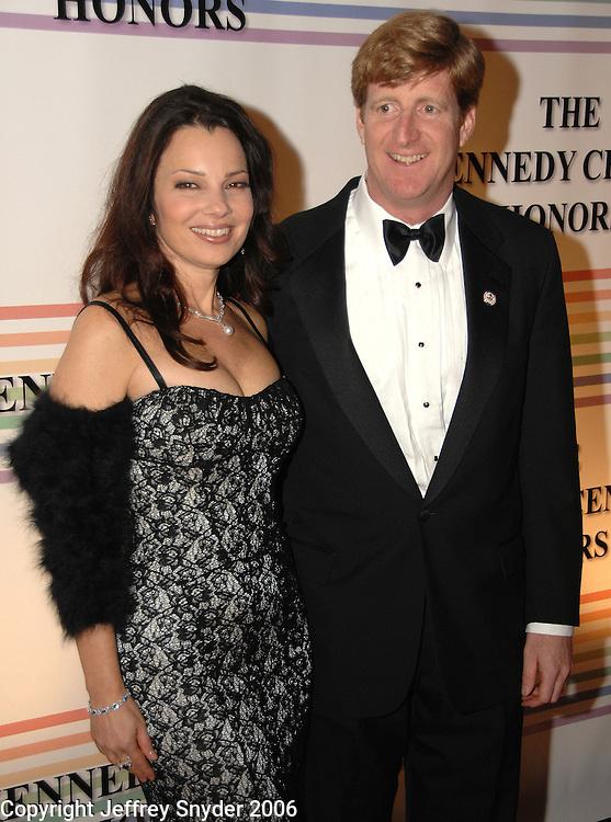 Fran Drescher and Cong. Patrick Kennedy<br />