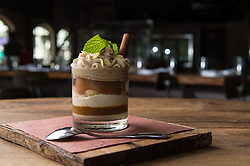 Ritual's Pumpkin-Persimmon Tiramisu captures layer upon layer of autumnal flavor in a glass. (Editorial: Houston Food Finder)