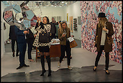 DARA HUANG; SIRINE OJJEY; TATIANA OJJAY;Opening of Frieze art Fair. London. 14 October 2014
