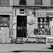 New York burns sign in Soho