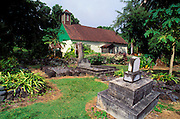 Congregational church and cemetery where Charles Lindbergh is buried, Kipahulu, Island of Maui, Hawaii USA